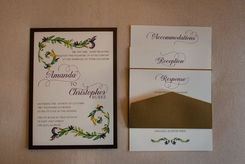 Black borders with leafy designs