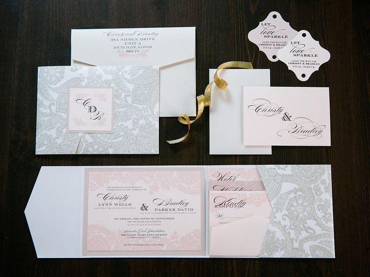 Tmx 1426281230969 Christy Brad 1272 Geneva, Illinois wedding invitation