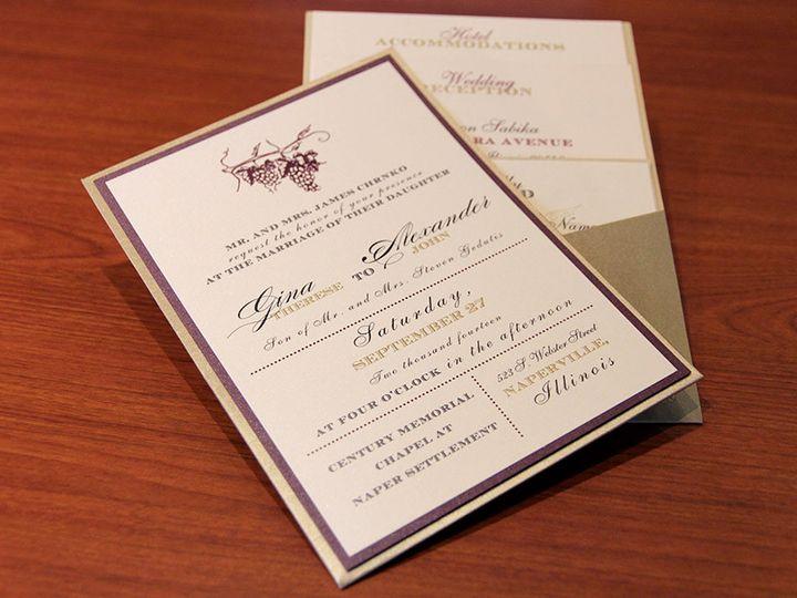 Tmx 1426282202966 Invite Front Copy Geneva, Illinois wedding invitation