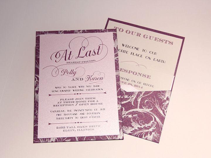 Tmx 1426282451715 Invite Geneva, Illinois wedding invitation