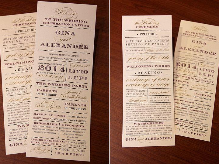Tmx 1426283237792 Program Geneva, Illinois wedding invitation
