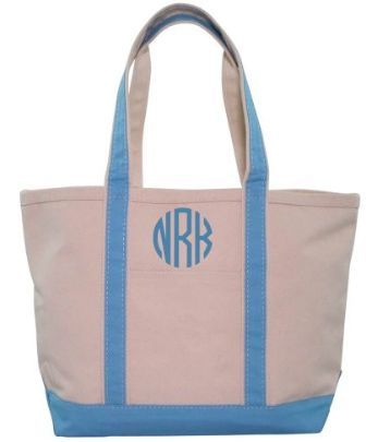 Monogrammed boat totes