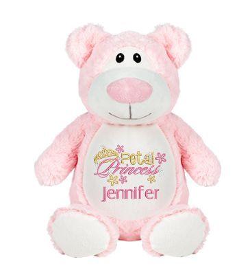 Petal princess personalized plush bear