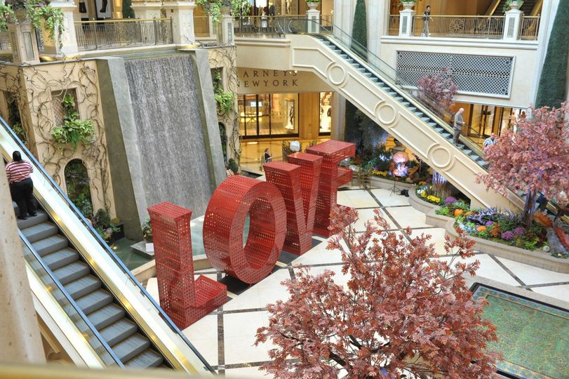 LOVE at The Atrium Waterfall