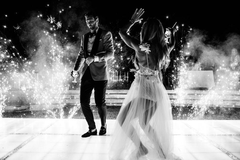 Dance floor and sparkles