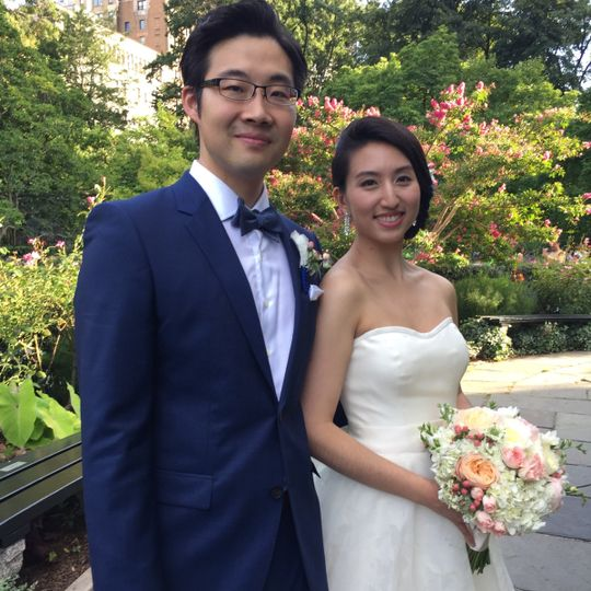 Conservatory garden wedding