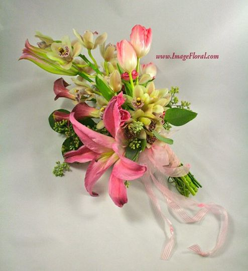 pinkcallaorchidlilyrosebouquetside2
