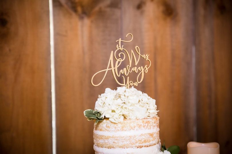 Cake topper | Photo credit: Adam Michaels Photography