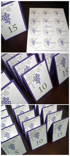 grape table cards