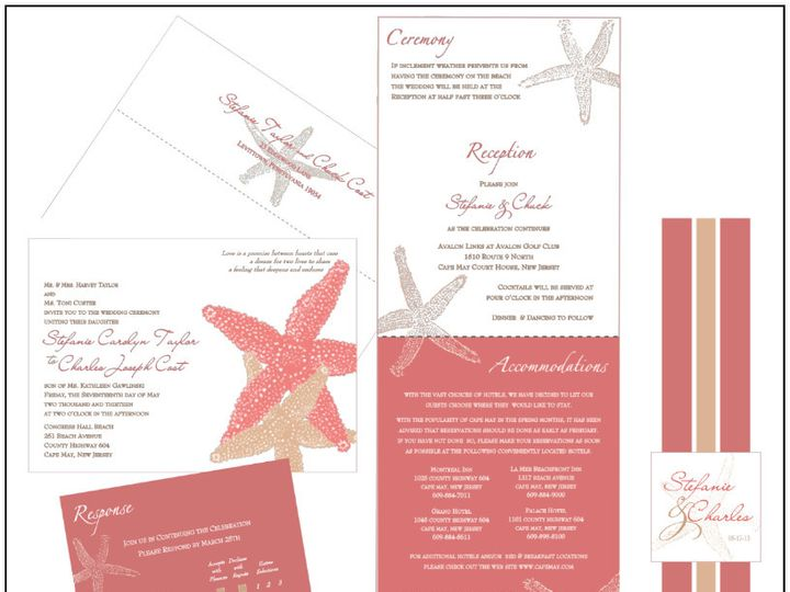 Tmx 1451144561854 Starfish 5x7 Ensemble Easton wedding invitation