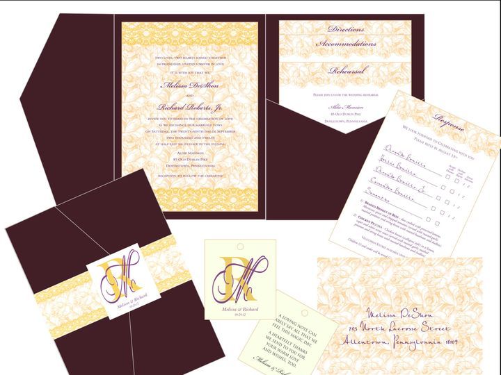 Tmx 1451144588875 Deshon Ensemble Easton wedding invitation
