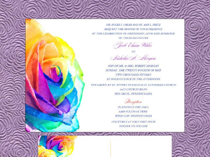 Tmx 1451144631893 Rainbow Roses Easton wedding invitation