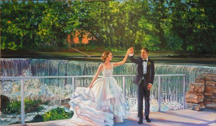 Live Wedding Painting by Mark