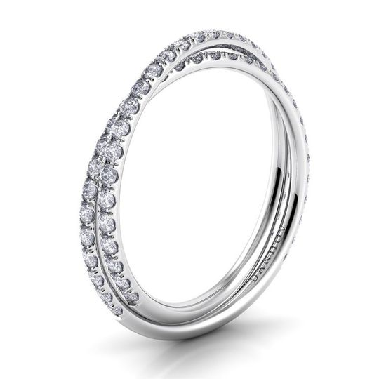Danhov Eleganza Platinum Braided Diamond Wedding Band