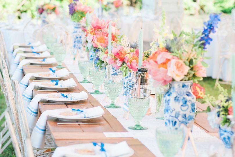 Cape Cod wedding setup