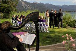 Wedding with harpist