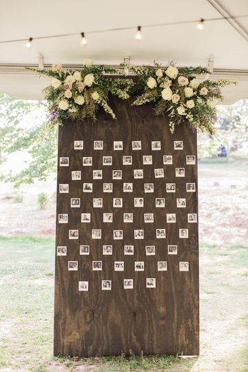 Custom photo board with gorgeous blooms