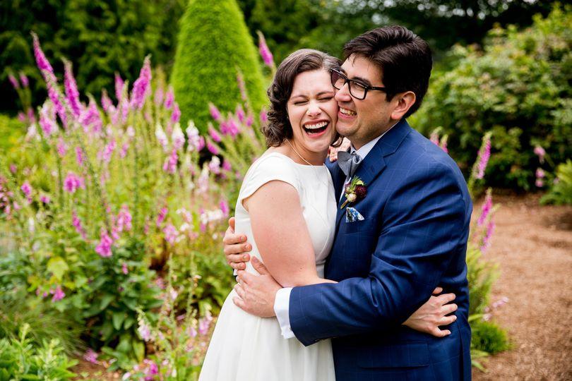Pure wedding day joy.