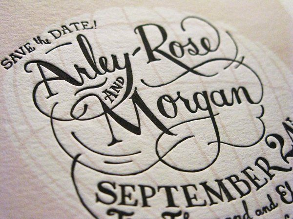 A sneak peek at our own Save the Date that Arley drew and Morgan printed!