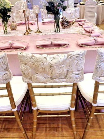 light pink table