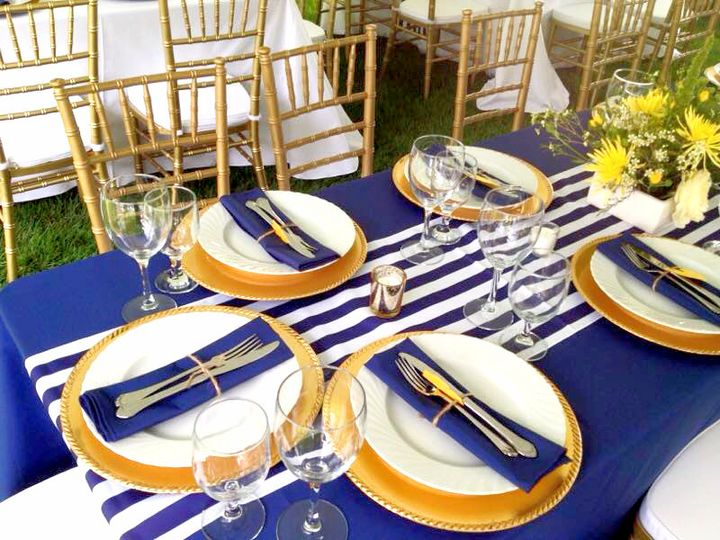 blue gold table