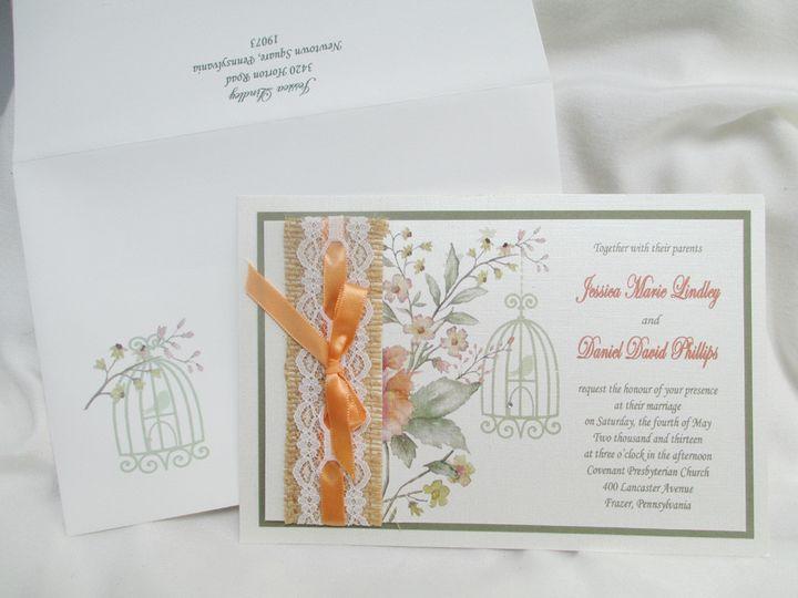burlap lace ribbin custom envelope addressing