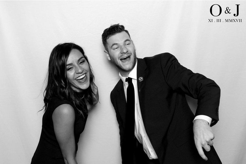 Black and white photo booth shots
