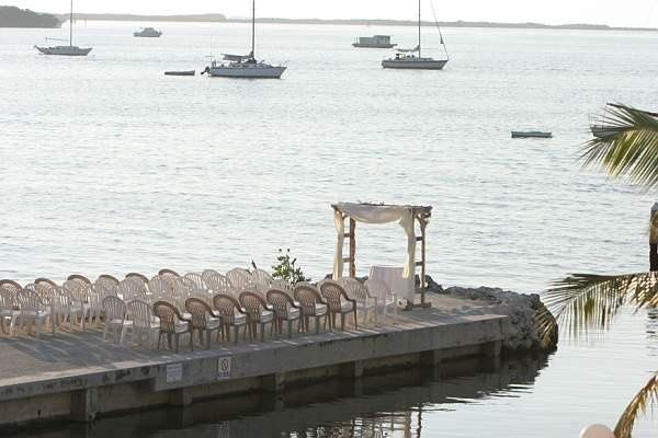 Key Largo sunset jetty wedding site or venue