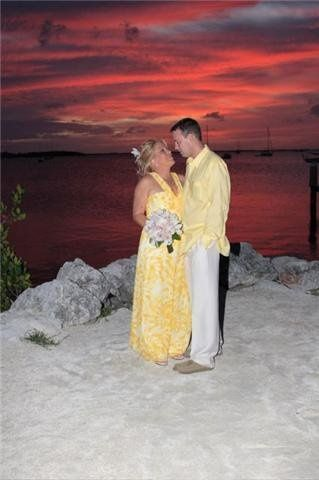 Key Largo sunset wedding