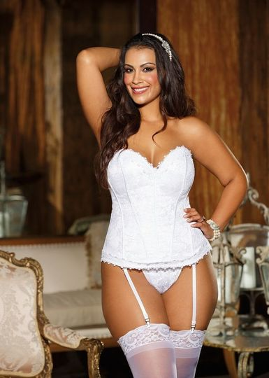 The ultimate bridal corset in rich lace with sweetheart neckline. Not appropriate if you need a...
