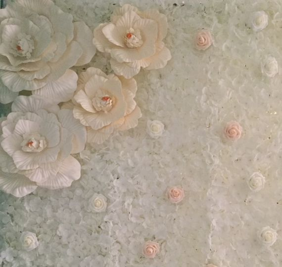 Heirloom Hydrangea Flower Wall