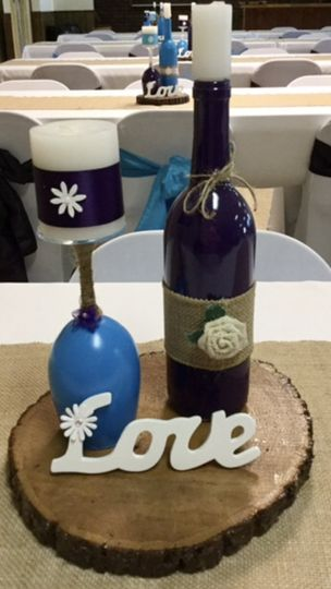 Custom-Painted Centerpieces