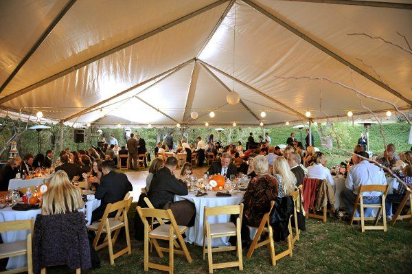 Tents, tables, chairs, heaters - another beautiful job from Verve!