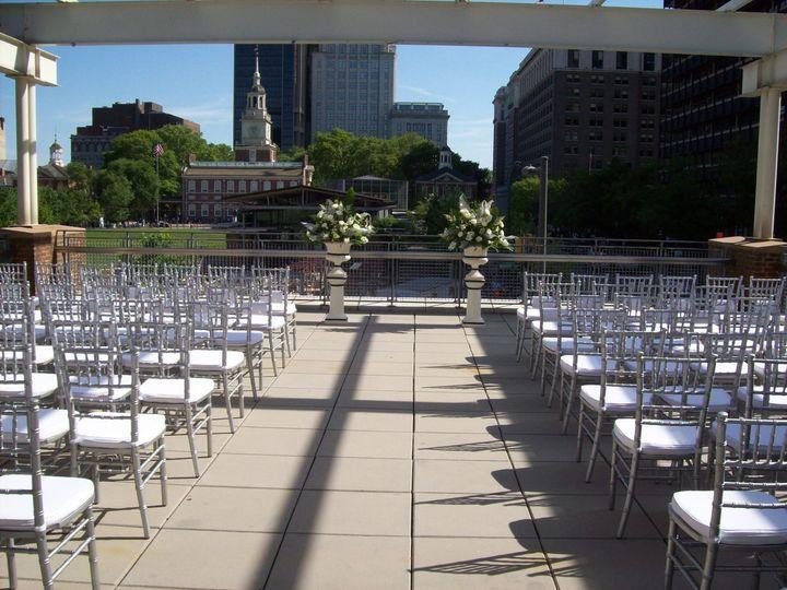 Wedding ceremony classic setup