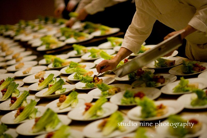 Vegetable catering plate-up