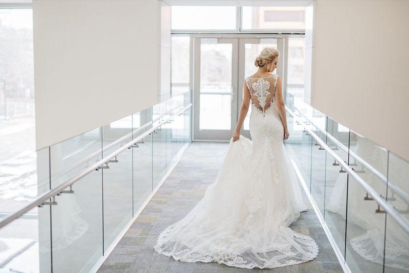 Bride on new bridge