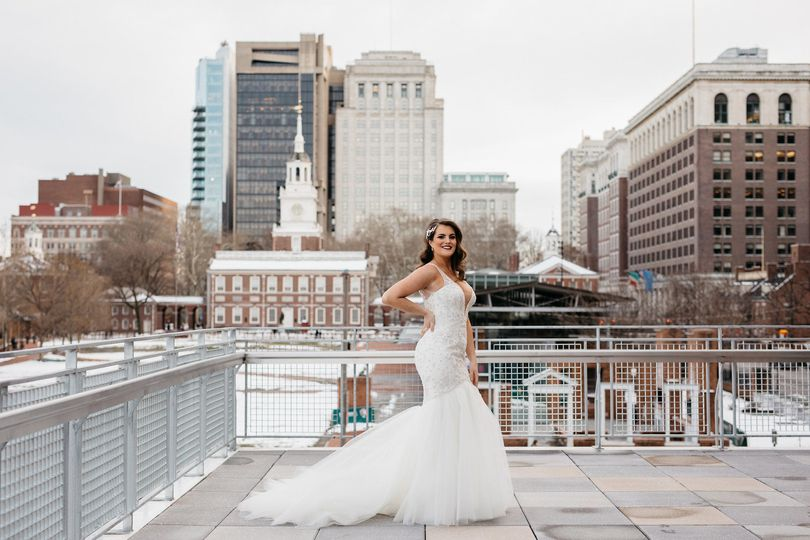 Bride with view