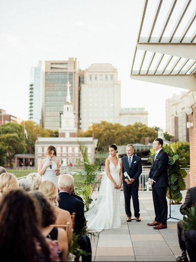 Ceremony on east terrace