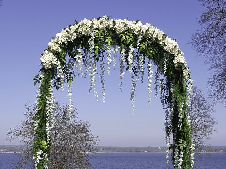 Tmx 1493664400117 White Floral Arch Lincoln, RI wedding rental