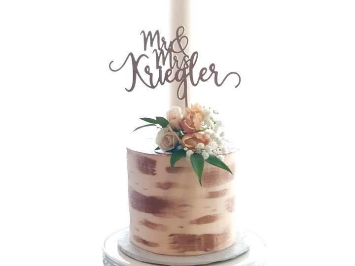 Tmx 1530289091 C99a1f6fc3f5816f 1530289091 0593500c1f00aecf 1530289091100 2 Rose Gold Painted Osseo, MN wedding cake