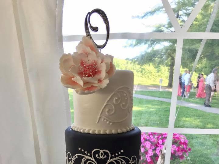 Tmx Coral And Grey Wedding Cake 51 974862 1560719870 Osseo, MN wedding cake