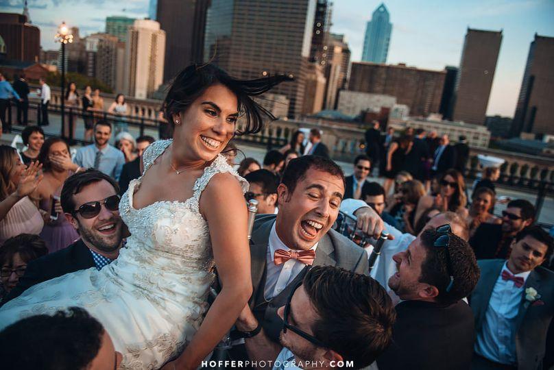 Free Library of Philadelphia Rooftop Wedding