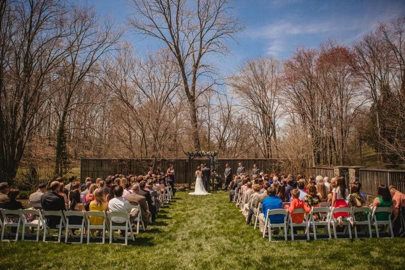 Katie and Andy's Spring wedding at the bride's grandparents' home in Great Falls, Virginia. Spring...