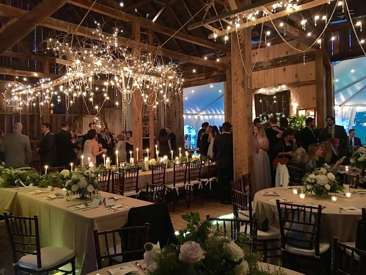 Emma & Brian's elegant October wedding featured a gorgeous ladder and vine chandelier that the...