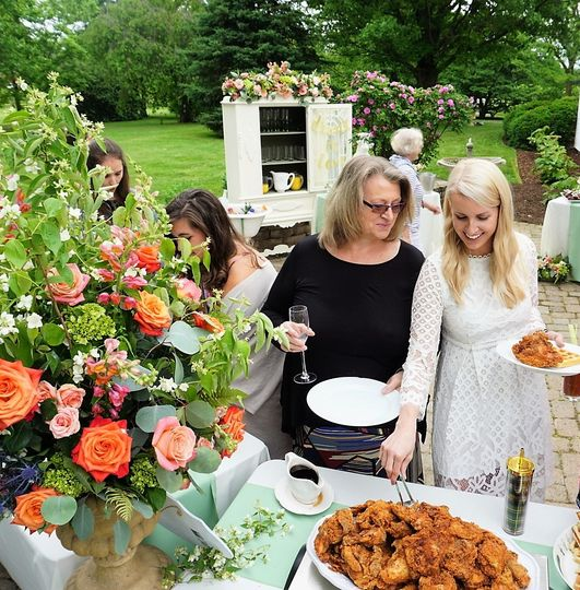 Farmhouse charm, flowers galore, and a splash of Beyoncé for this Bridal Shower Brunch at a family...