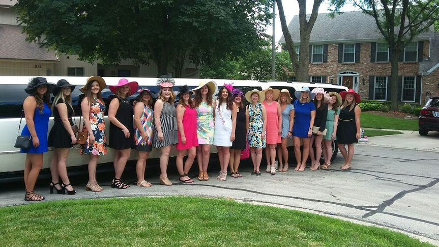 Bachelorette party headed to arlington park race track!