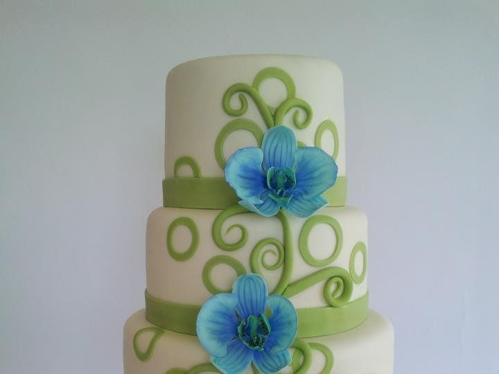 Tmx 1339089023764 Blueorchidcake Hinesburg wedding cake