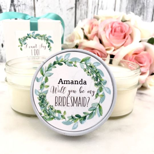White and green wedding gift