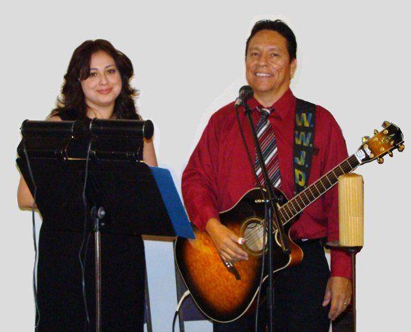 Mary Penuelas and George Gonzalez singing in Scottsdale Arizona.