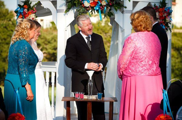 Eagle Ridge Golf Club, the sand ceremony, mothers pouring